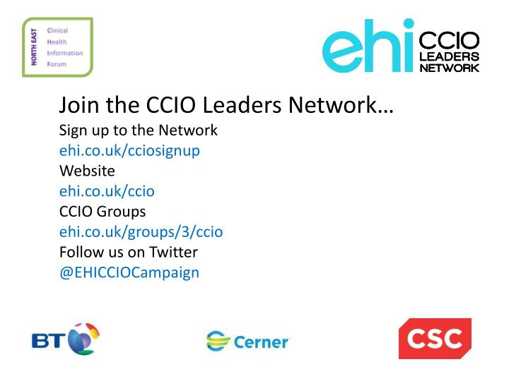 Join the CCIO Leaders Network…
