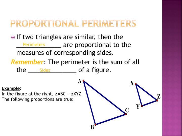 Proportional Perimeters