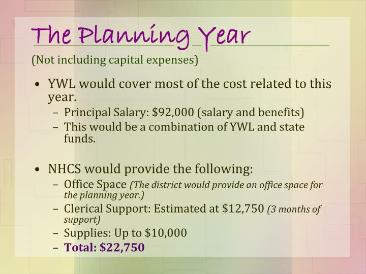 The Planning Year