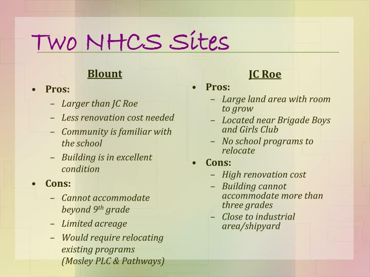 Two NHCS Sites