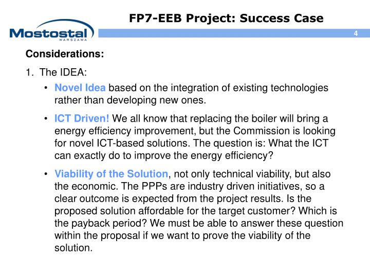 FP7-EEB Project: Success Case