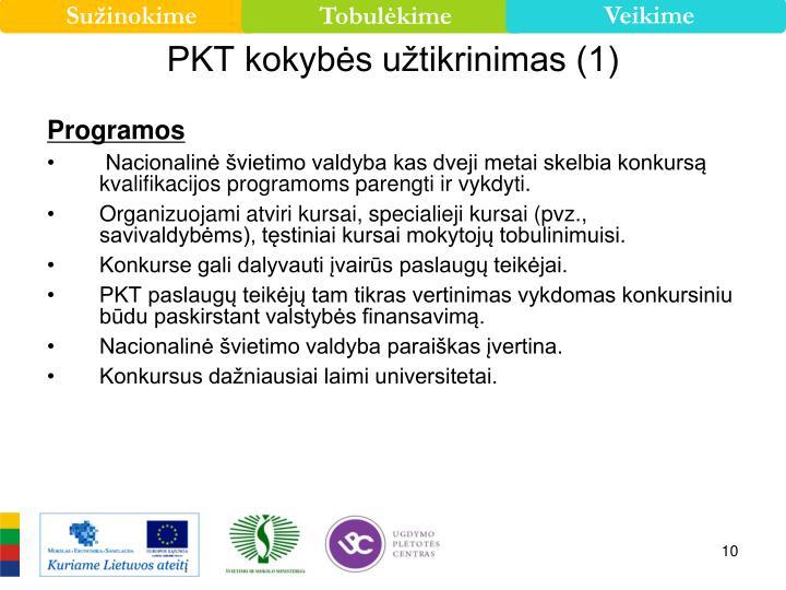 PKT kokybės užtikrinimas (1)