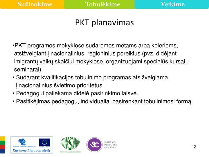 PKT planavimas