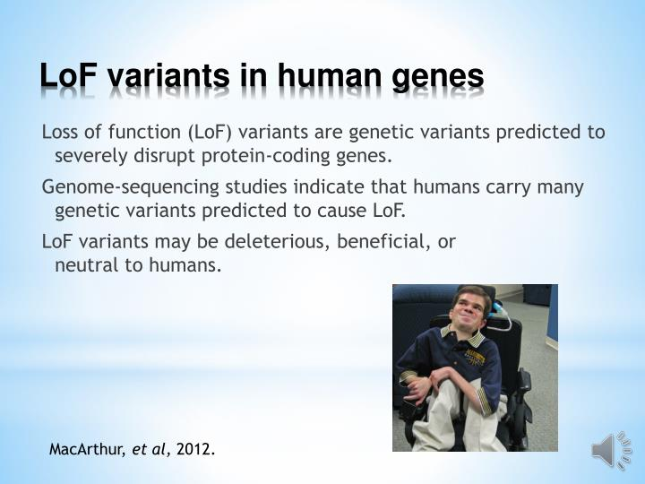 LoF variants in human genes
