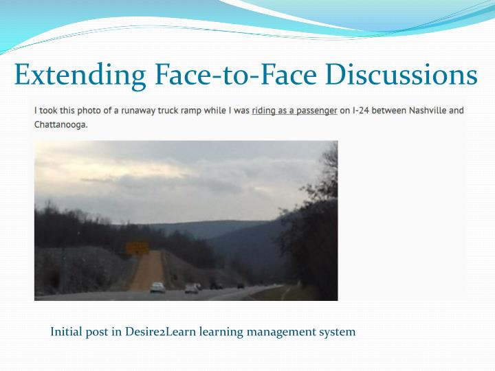 Extending Face-to-Face Discussions