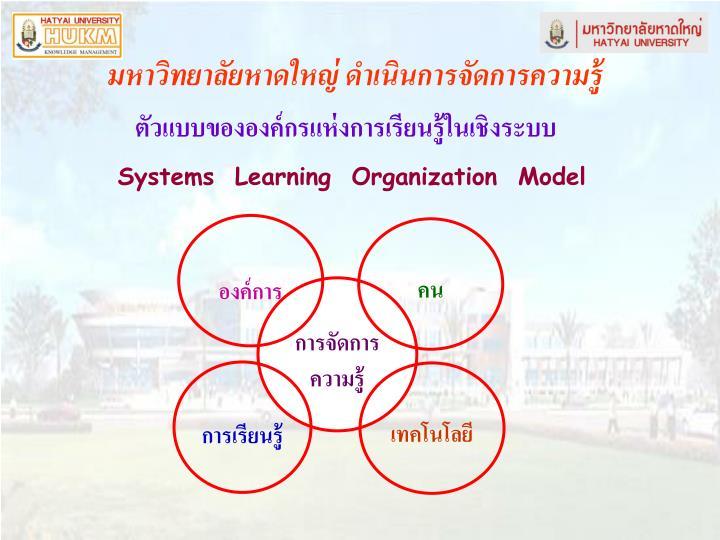 ตัวแบบขององค์กรแห่งการเรียนรู้ในเชิงระบบ