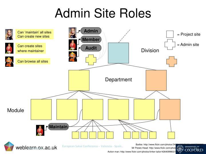Admin Site Roles