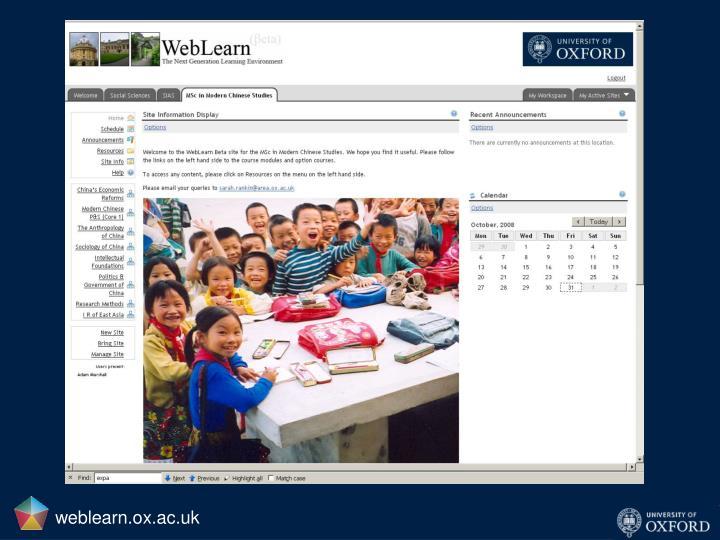 weblearn.ox.ac.uk