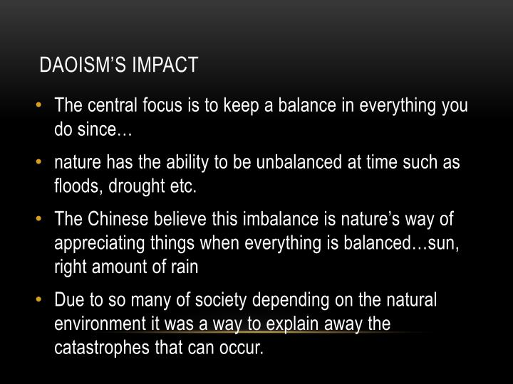 Daoism's Impact