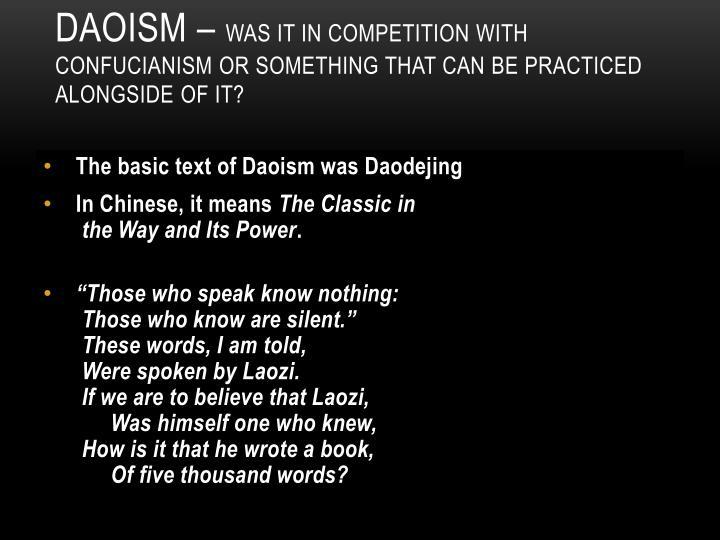 Daoism –