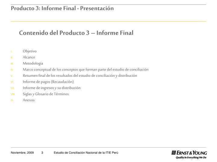 Contenido del Producto 3 – Informe Final