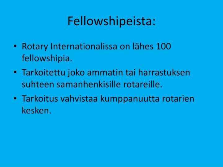 Fellowshipeista: