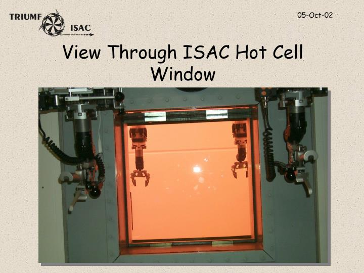 View Through ISAC Hot Cell Window