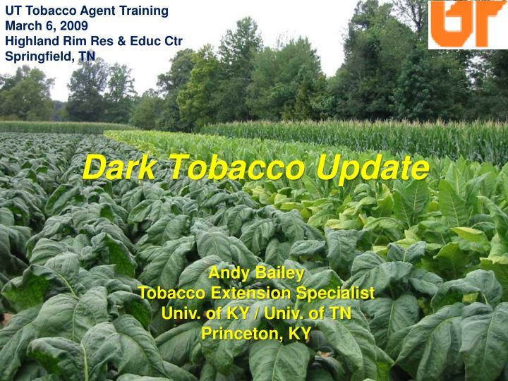UT Tobacco Agent Training