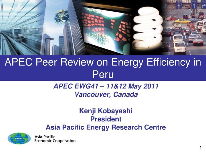 APEC Peer Review on Energy Efficiency in Peru