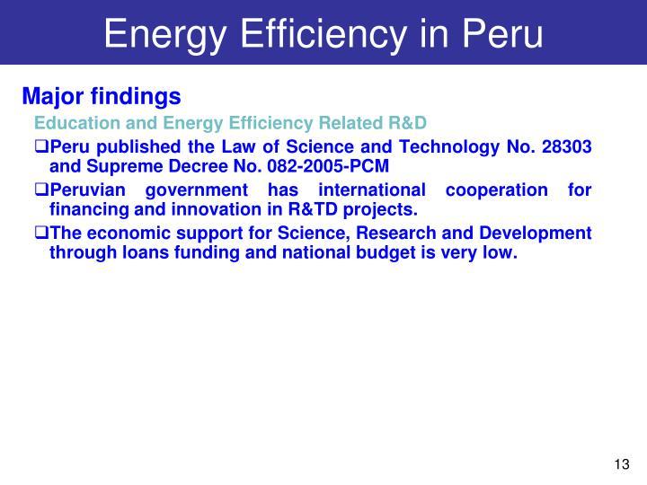 Energy Efficiency in Peru