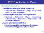 pree activities in peru1