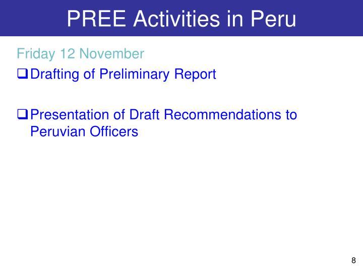 PREE Activities in Peru
