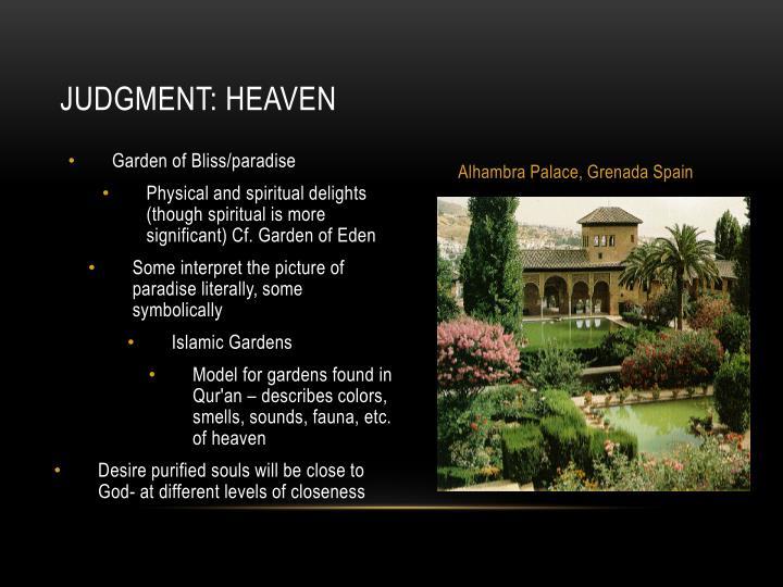 Judgment: heaven