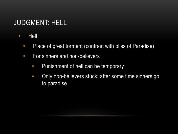 Judgment: hell