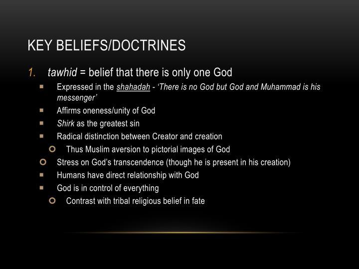 Key beliefs/Doctrines