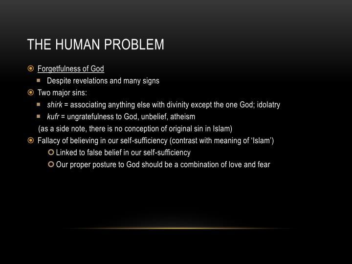 The Human Problem