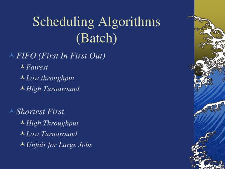 Scheduling Algorithms