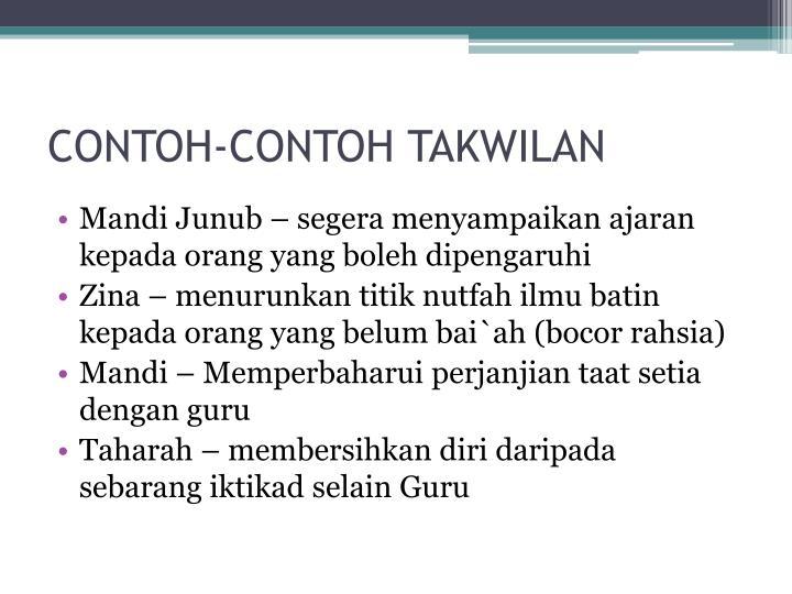 CONTOH-CONTOH TAKWILAN