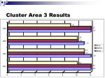 cluster area 3 results