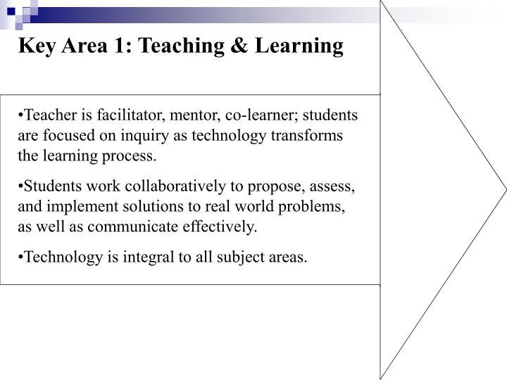 Key Area 1: Teaching & Learning
