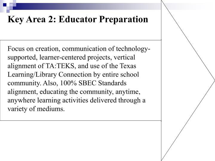 Key Area 2: Educator Preparation