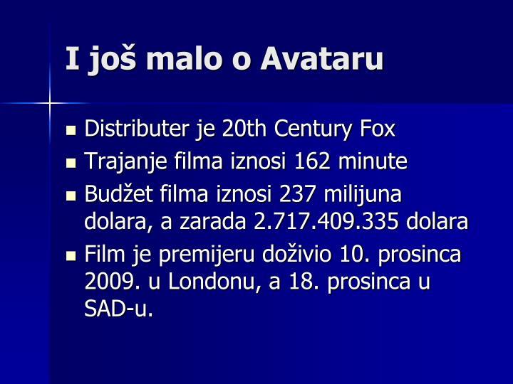 I još malo o Avataru