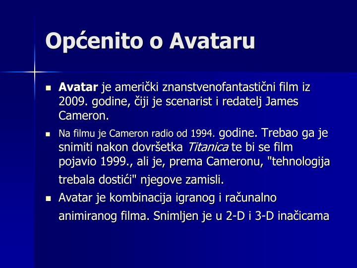 Općenito o Avataru