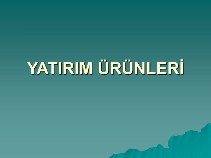 YATIRIM RNLER