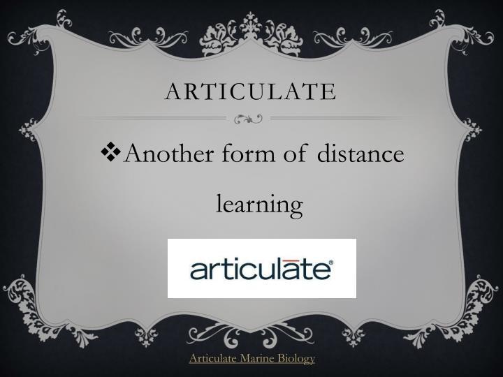 Articulate