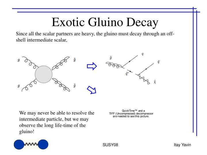 Exotic Gluino Decay