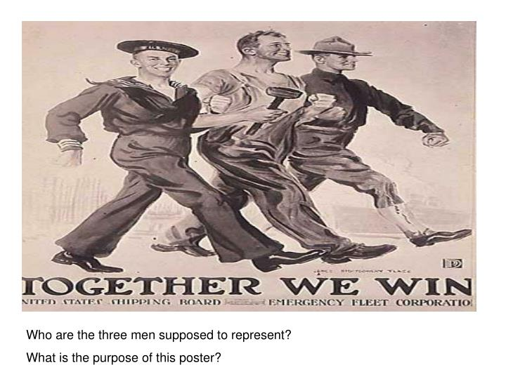 Who are the three men supposed to represent?