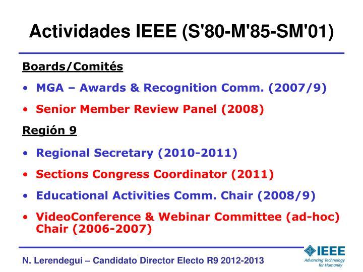 Actividades IEEE