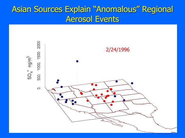 """Asian Sources Explain """"Anomalous"""" Regional Aerosol Events"""