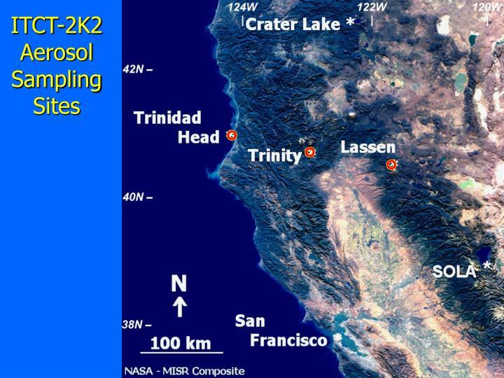 ITCT-2K2 Aerosol Sampling Sites