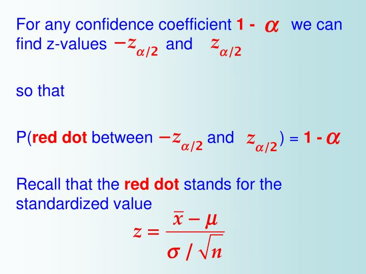For any confidence coefficient