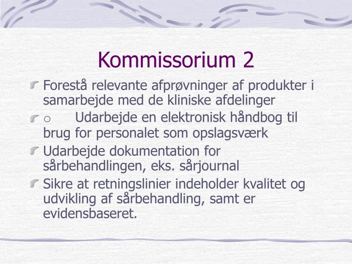 Kommissorium 2