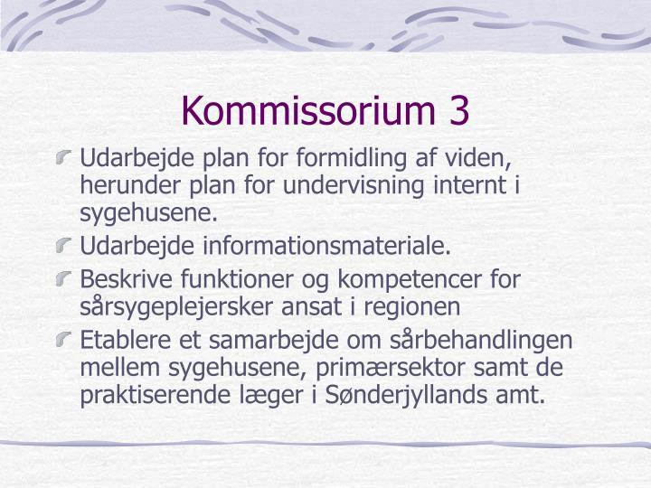 Kommissorium 3