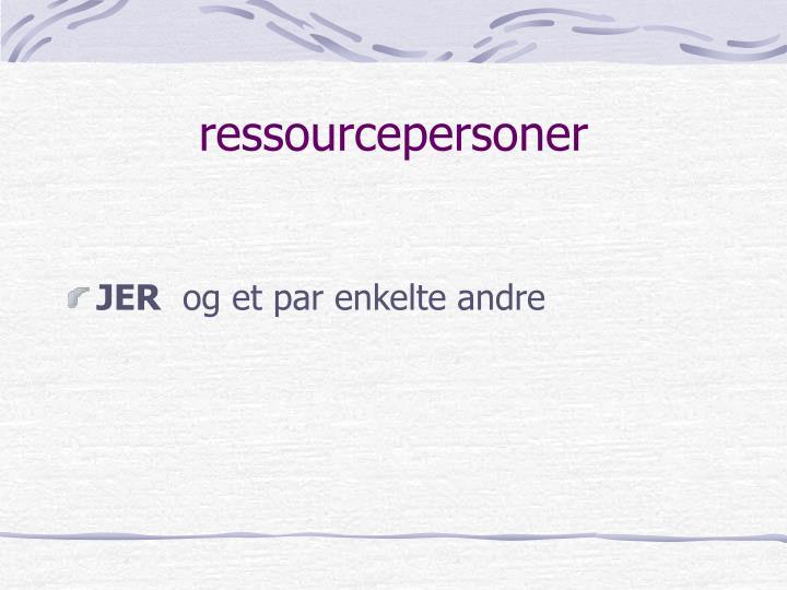 ressourcepersoner