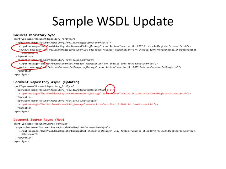 Sample WSDL Update