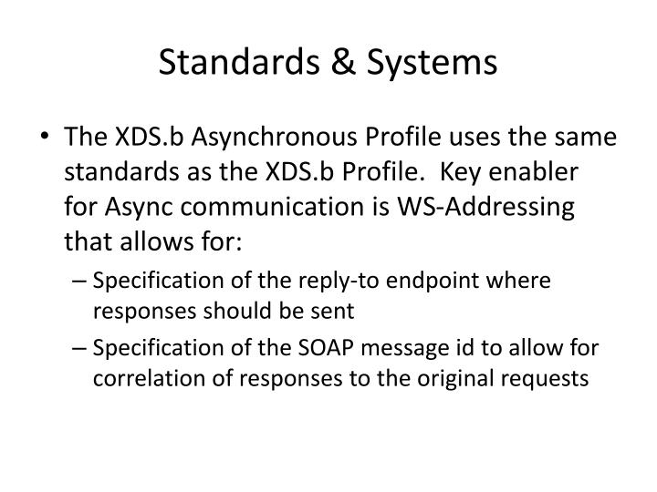 Standards systems