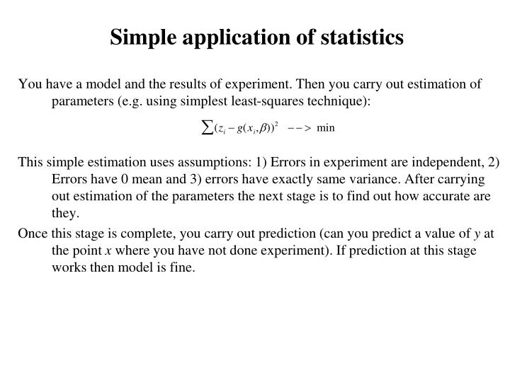 Simple application of statistics