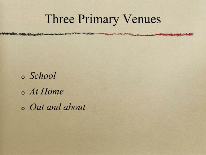 Three Primary Venues