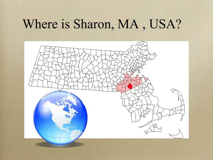 Where is Sharon, MA , USA?