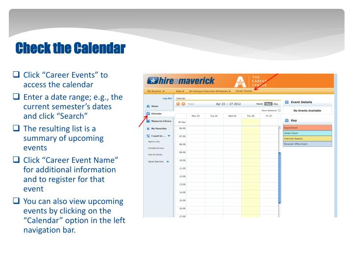Check the Calendar